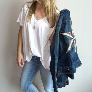 🌟Lucky Brand Wralee Star Patchwork denim jacket
